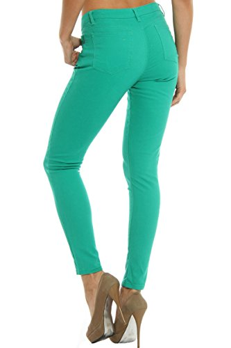 42b6ab8fa33 free shipping Hey Collection Juniors High-Waisted Brushed Stretch Twill  Skinny Jeans