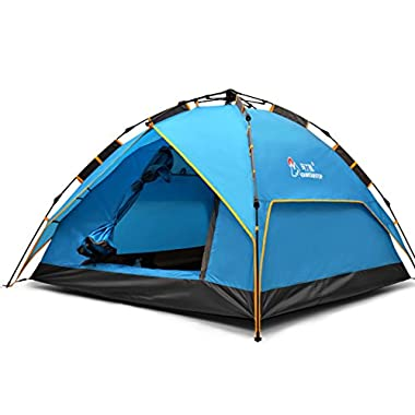 Mountaintop Outdoor 2-3 Person Camping Tent/Backpacking Tents with Carry Bag 3 Season Tents for Camping Blue1010