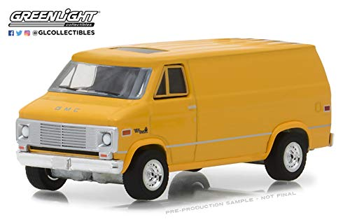 1972 GMC Vandura Yellow Blue Collar Collection Series 4 1/64 Diecast Model Car by Greenlight 35100 C