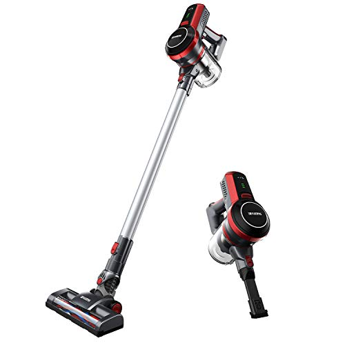 BEAUDENS Cordless Stick Vacuum Cleaner, High Power, Long Runtime, Rechargeable and Lightweight, Wall Mounted, 3 Stages Filtration for Carpet Hard Wood Floor Car Pet Hair