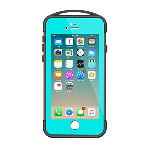 Waterproof Case for iPhone 7, Merit Spidercase Waterproof Shockproof Dirtproof Snowproof Case Outdoor & Daily Use Cover for iPhone 7 (Aqua Contact Lenses)