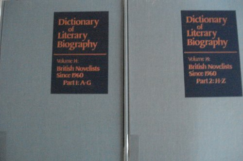 DLB 14: British Novelists Since 1960 (Dictionary of Literary Biography) (v. 14) Jay Hailo