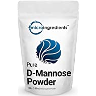 Premium Pure D-Mannose Powder, 3.5 Ounce, Powerfully Supports Urinary Tract Infection and Bladder Health. Non-Irradiated, Non-Contaminated, Non-GMO and Vegan Friendly.