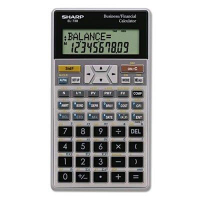 SHARP ELECTRONICS CORP EL738FB EL-738C Financial Calculator, 10-Digit LCD by SHARP SHREL738FB