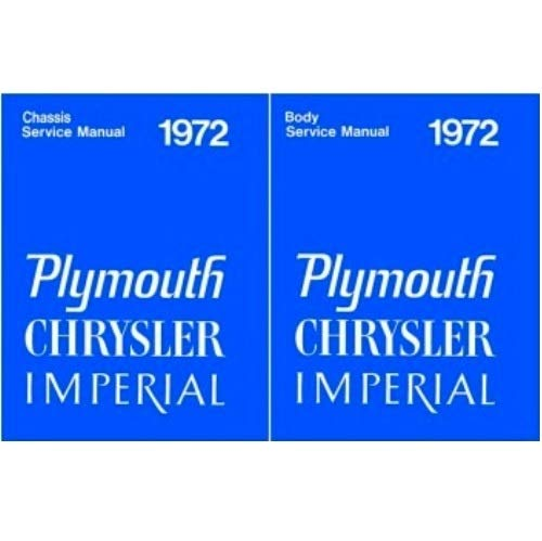 (Set of Combined Body/Chassis Factory Shop - Service Manuals for 1972 Plymouth - Chrysler - Imperial)