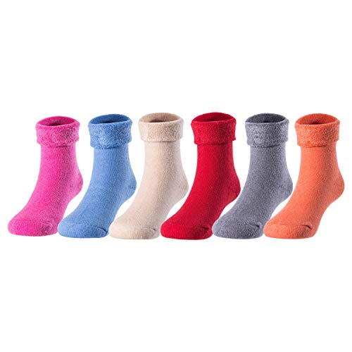 Lovely Annie Children 3 or 6 Pairs Wool Blend Winter Socks Kids Boys Girls