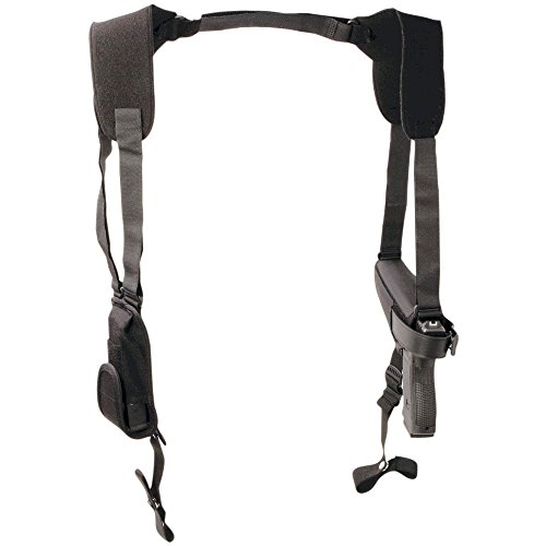 Uncle Mike's Off-Duty and Concealment Pro-Pak Nylon Horizontal Shoulder Holster (Size 15, Black)
