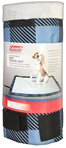 Coleman Dog Quilted Plush Travel Pet, Blue Plaid, Mat 27'' x 36''' by Coleman (Image #4)