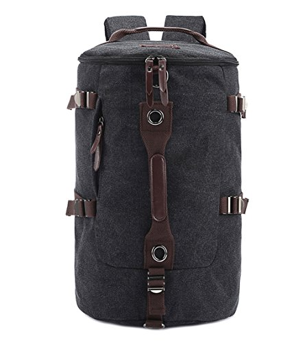 Berchirly Casual Men Canvas Backpack Rucksack Bucket Hiking Bag for Travelling Gym Outdoor Activities