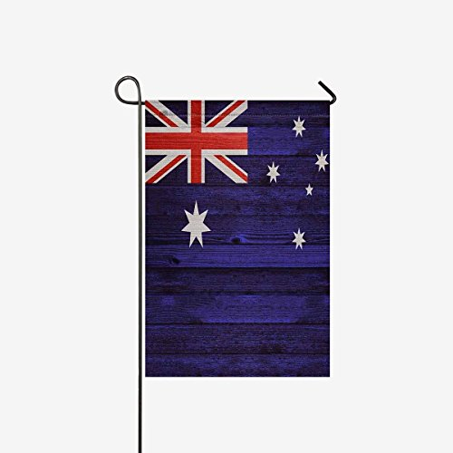 Pretty Lee Australia Flag on Old Wood Background Decorative Flag Garden Flag House Banner Double Sided 28 x 40 inch Flg for Wishing Party Wedding Yard Home Decor