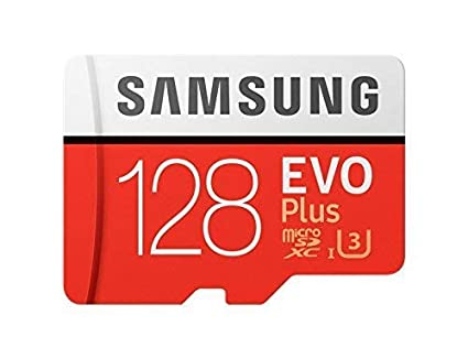 Samsung mb-mc128ga/EU EVO Plus Tarjeta microSD de 128 GB, UHS-I, Clase U3, hasta 100 MB/s de Lectura, 90 MB/s de Escritura, Adaptador SD Incluido