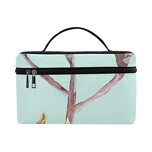 (Beautiful Tree Branch Wild Large Capacity Size Lady Cosmetic Bag Makeup Organizer Lunch Box Train Toiletry Case For Girls Teen Women Travel With Zipper And Single Layer )