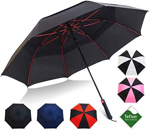 Repel Umbrella Golf Umbrella - 60inch Vented Double Canopy with Triple Layered Reinforced Fiberglass Ribs and Teflon Coating, Auto Open [並行輸入品]