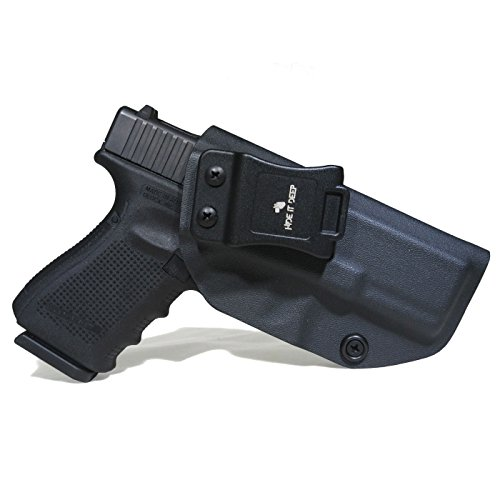 Hide It Deep IWB KYDEX Holster Fits: Glock 19/Glock 19x/Glock 23/Glock 32 (Gen 1-5) - Concealed Carry Holster (Black, Right Hand Draw)