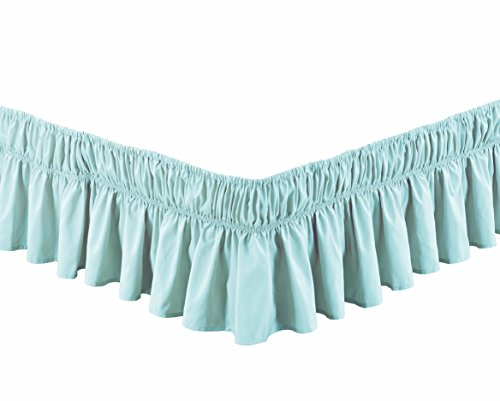 dust ruffle light blue - 3