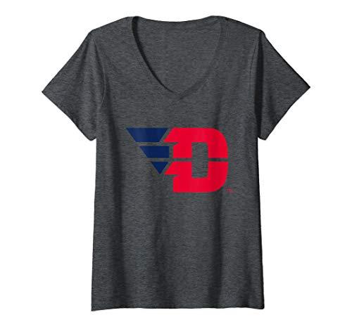 (Womens Dayton University Flyers NCAA RYLDTU06 V-Neck T-Shirt)