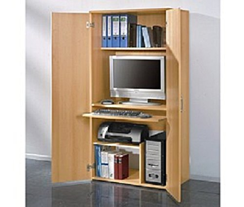 4094 - PC-Schrank Computerschrank, in Buche, 161cm Höhe: Amazon.de ...