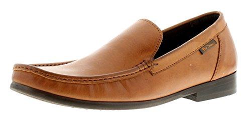 Hombre / Hombre Ben Sherman Ben WELLS marrón sin cierres de Piel Mocasines - Marrón - GB Tallas 7-12