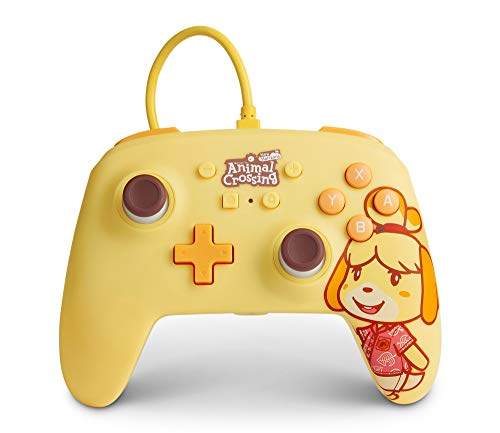 POWER A Enhanced Wired Controller for Nintendo Switch - Animal Crossing: Isabelle, Nintendo Switch Lite, Gamepad, Game Controller, Wired Controller, Officially Licensed - Nintendo Switch
