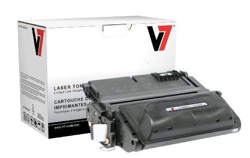 V7 V738AG Remanufactured Toner Cartridge for HP Q1338A (HP 38A) - 12000 Page Yield