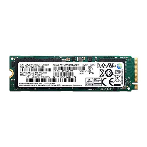 Samsung 1TB SM961 Single Sided Polaris V-NAND MLC 80mm (2280) M.2 PCI Express 3.0 x4 (PCIe Gen3 x4) NVMe OEM SSD - MZVKW1T0HMLH-000H1