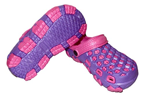 Little Kids 2 Tone Summer Clog Purple / Fushsia
