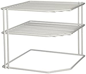 Grayline 40316, Corner Helper Shelf, White