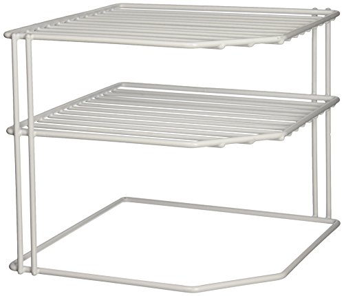 Grayline 40316, Corner Helper Shelf, White (Corner Shelf Cabinet)