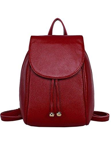Explorar Barato Menschwear Lady Genuine Leather Backpack moda di scuola della spalla dello zaino della Donne Bag Blu Rosso Aclaramiento De Compra La Salida De Muchos Tipos De Comprar Precio Barato Al Por Mayor YovPOHL
