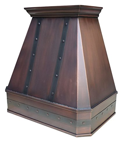 Handcrafted Copper Range Hood With Commercial Grade Hood