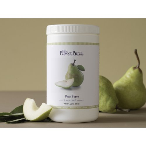 Pear Puree Frozen - 6 x 30 Oz Case by Perfect Puree