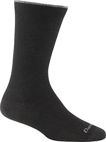 Darn Tough Women's Merino Wool Solid Basic Crew Light Socks, Black, Large - 6 Pack Special Offer