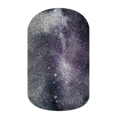 Cosmos - Jamberry Nail Wraps - HALF Sheet - Gray & Purple Swirl Sparkle from Jamberry