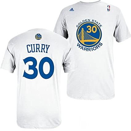 adidas Golden State Warriors Stephen Curry White Gametime T Shirt (XXL) 221fccae8