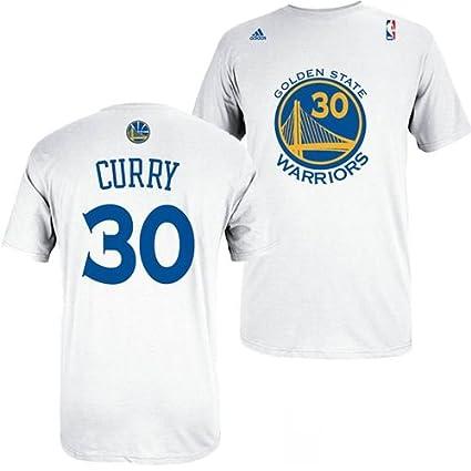 17313edb8ce adidas Golden State Warriors Stephen Curry White Gametime T Shirt (XXL)