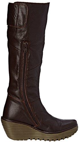 Brown Womens Fly Yule Boot London Dark Wedge London Fly q8n4tdaa