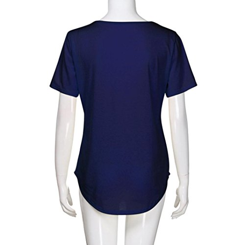 Poliéster SANFASHION Shirt155 Para Azul Mujer Bailarinas Damen Multicolor SANFASHION Multicolor de Bekleidung 7ArcYwAZq
