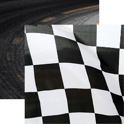 Amazon Racing Checkered Flag 12x12 Scrapbook Paper By Reminisce