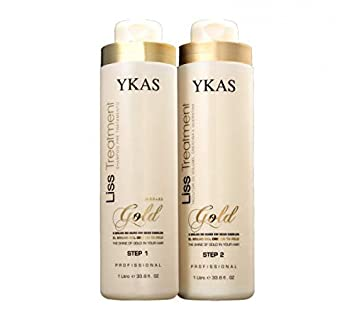 7fc92fa2b Y-Kas Gold Liss Treatmet Escova Progressiva de Ouro Brazilian Keratin Hair  Straightening Smoothing System