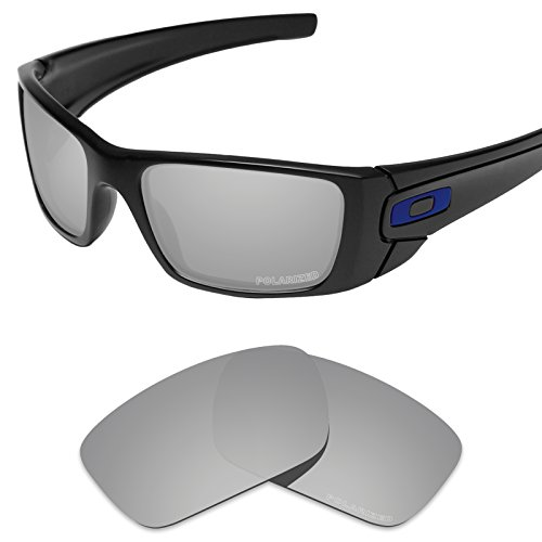 (Tintart Performance Lenses Compatible with Oakley Fuel Cell Polycarbonate Polarized Etched-Silver Metallic)