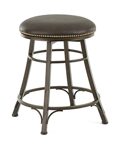 24'h Swivel Counter - Steve Silver Company Bali Backless Swivel Counter Stool, 18