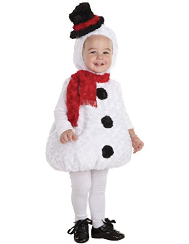 [Underwraps Baby's Snowman Bally, White/Black/Red, Medium] (Snowman Costume Hat)