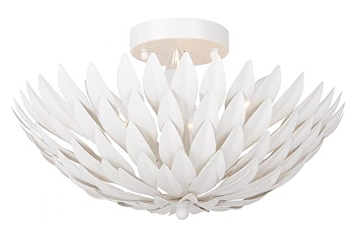 Crystorama Broche 4 Light Matte White Ceiling Mount