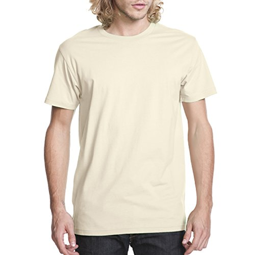 Next Level Mens Premium Fitted Short-Sleeve Crew T-Shirt - X-Large - Natural