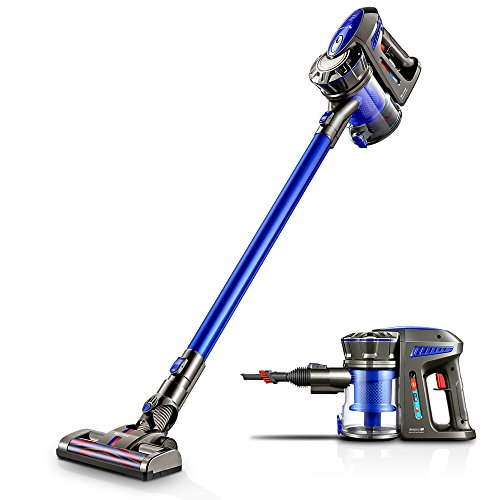 Proscenic Cordless Vacuum Cleaner, Lightweight Cordless Stick Vacuum, 7000 Pa Powerful Suction Bagless Handheld Vacuum, with 2200mA Detachable & Rechargeable Battery, Wall Mount