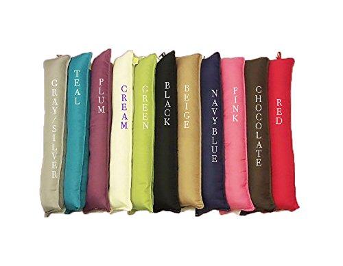New Fabric Draught Excluder Draft Insulator Polycotton Door Window Snake Hallway (Beige) Thread Linen