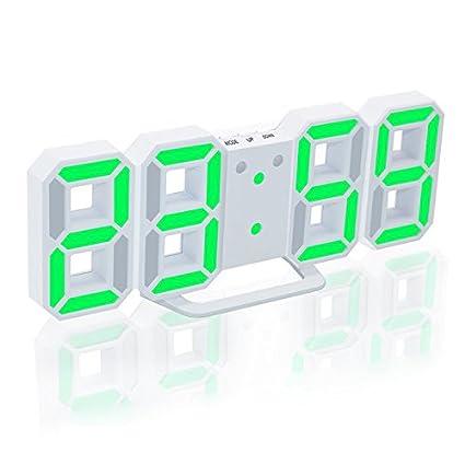 HIGGER LED Despertador Digital Actualización de la Versión 8888 El Reloj de Pared Puede Ajustar el