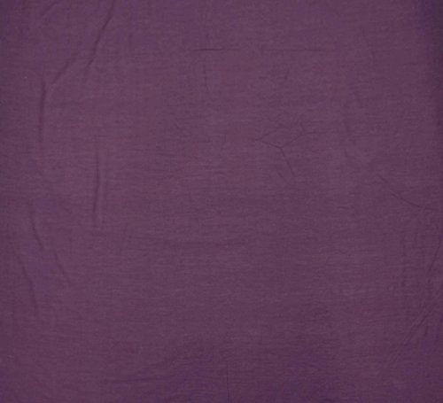 55 Wide Purple Cotton Silk Sewing Fabric Crafting Material By The Yard