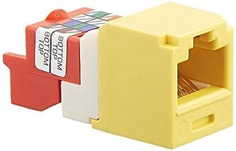 Panduit CJ5E88TYL Category-5E 8-Wire T-Style Jack Module, Yellow