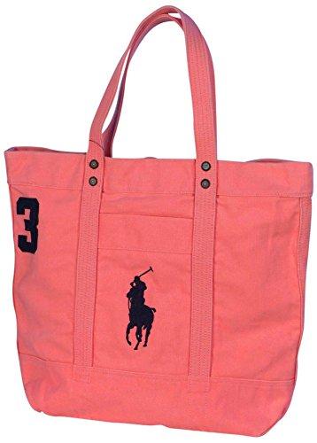 Polo Ralph Lauren Canvas Big Pony Zip Tote Bag-Perfectly - Tote Pink Ralph Lauren